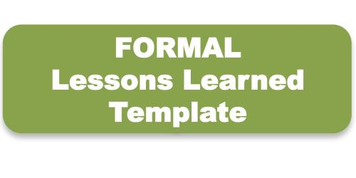 Conducting Lessons LearnedToolkit  Templates