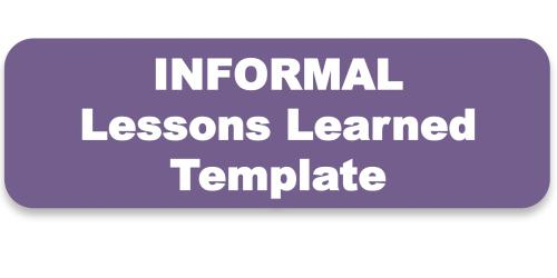 Conducting Lessons Learned-Toolkit & Templates